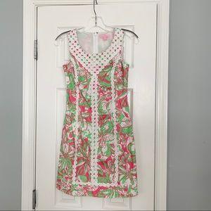 Lilly Pulitzer Macfarlane pink floral shift dress